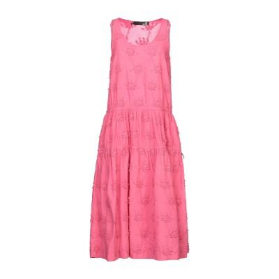ラブ モスキーノ LOVE MOSCHINO 7分丈ワンピース・ドレス フューシャ 40 コットン 100% 7分丈ワンピース・ドレス