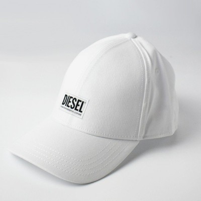 DIESEL ディーゼル 00SYQ9 0BAUI CORRY HAT ロゴ ベースボールキャップ 帽子 100/ホワイト