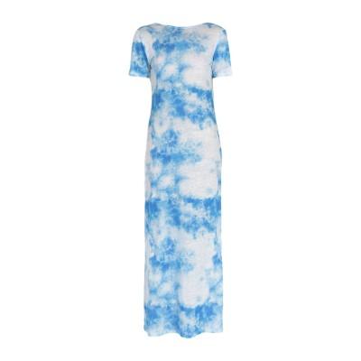 マジェスティック MAJESTIC FILATURES ロングワンピース&ドレス アジュールブルー 2 麻 100% ロングワンピース&ドレス