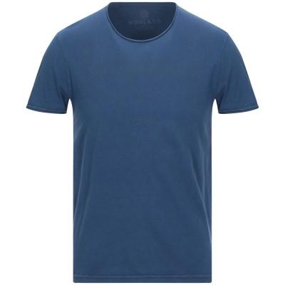 WOOL & CO T シャツ ダークブルー S コットン 100% T シャツ