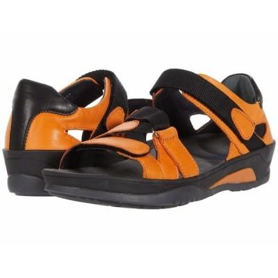 ウォルキー サンダル シューズ レディース Ripple Orange Savana Leather