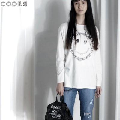 COOLA クーラBone Face Print ルーズ L/S Tee TOPS CQ-35050メール便で送料無料返品不可 5のつく日 +4%