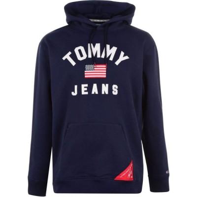 トミー ジーンズ Tommy Jeans メンズ パーカー トップス Hoodie Black Iris