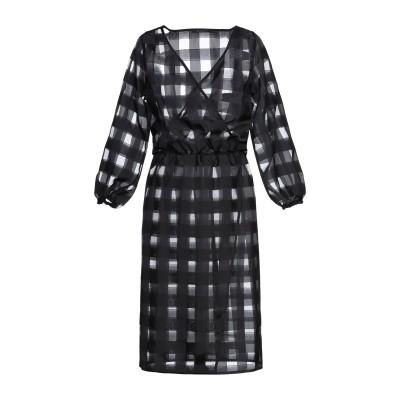 ZEUSEDERA 7分丈ワンピース・ドレス ブラック S ポリエステル 100% 7分丈ワンピース・ドレス