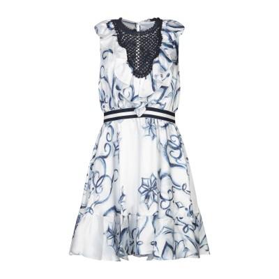 レリッシュ RELISH ミニワンピース&ドレス ホワイト S ポリエステル 100% ミニワンピース&ドレス