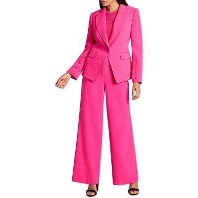 タハリ Tahari ASL レディース スーツ・ジャケット アウター Crepe Single-Button Blazer Shocking Pink