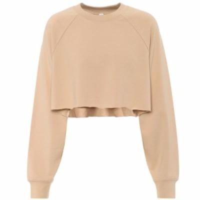 アローヨガ Alo Yoga レディース スウェット・トレーナー トップス double take cotton-blend sweatshirt Putty