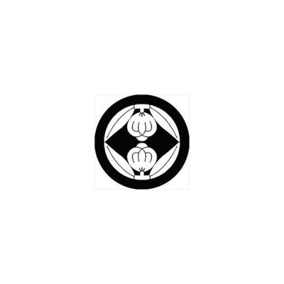 家紋シール 向かい茶の実紋 直径4cm 丸型 白紋 4枚セット KS44M-1204W
