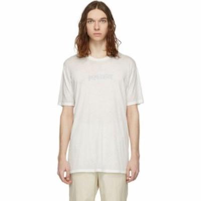 バハ イースト Baja East メンズ Tシャツ トップス white baja metal burn out t-shirt
