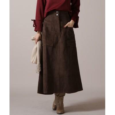 Ketty Cherie/ケティ シェリー サイドポケットコーデュロイスカート ブラウン M