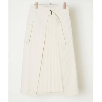 alcali/Soffitto / nota de la mano sinistra/デニムプリーツスカート WOMEN スカート > デニムスカート