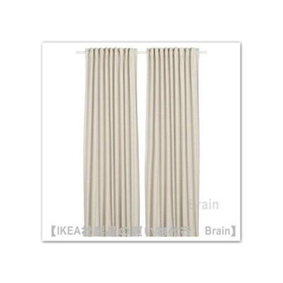 IKEA/イケア ORDENSFLY カーテン1組145x250 cm ホワイト/ベージュ