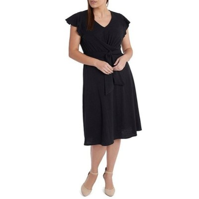 セセ レディース ワンピース トップス Plus Size Short Sleeve Midi Dress