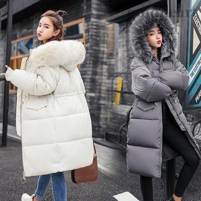 中綿ダウンコート レディース 40代 ロング丈 軽い 冬服 厚手 アウター 中綿コート 中綿ジャケット ダウン風コート フード付き 暖かい 大きいサイズ 着痩せ 防寒