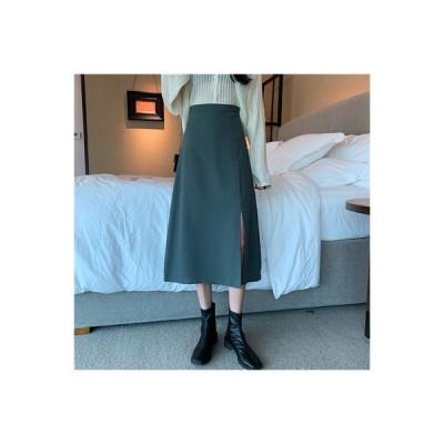 【送料無料】秋服 年 女 韓国風 ハイウエスト 着やせ 裾 スプリット スーツ 中長 | 364331_A63666-6968717
