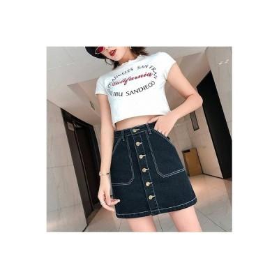 大きいサイズS-5XL 春夏新作 ファッション/人気スカート ブラック/ブルー2色展開