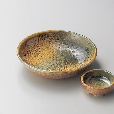 和食器 黄瀬戸織部刺身鉢 16.4×3.4cm うつわ 陶器 おしゃれ おうち