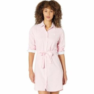 ユーエスポロアッスン U.S. POLO ASSN. レディース ワンピース ワンピース・ドレス Long Sleeve Solid Stretch Oxford Dress Pinks