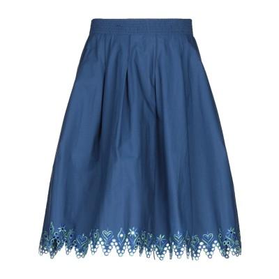 エトロ ETRO ひざ丈スカート ブルー 44 コットン 96% / ポリウレタン 4% ひざ丈スカート