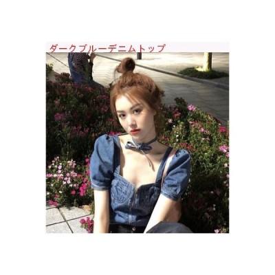 【送料無料】夏 韓国風 着やせ スクエアネック 着やせ ひもあり 露 | 346770_A62852-4656715