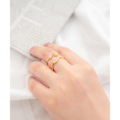 指輪 スター&ウエーブリングセット