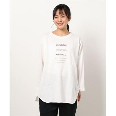 tシャツ Tシャツ ロゴプリントロンT