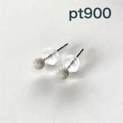 pt900ピアス 丸玉ピアス 3mmプラチナフラッシュボールピアス