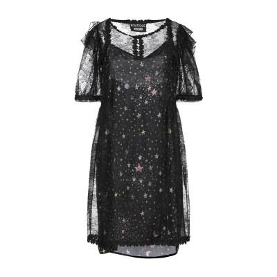 BOUTIQUE MOSCHINO ミニワンピース&ドレス ブラック 38 ナイロン 100% ミニワンピース&ドレス