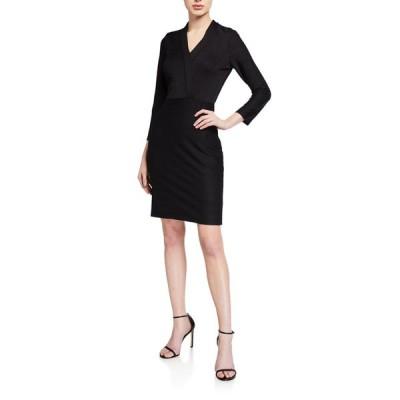 ショシャーナ レディース ワンピース トップス Delia Wide-Rib Stretch Knit Sheath Dress