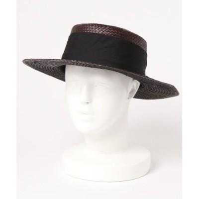 CRAFT STANDARD BOUTIQUE / リボン付カンカン帽子 WOMEN 帽子 > ハット