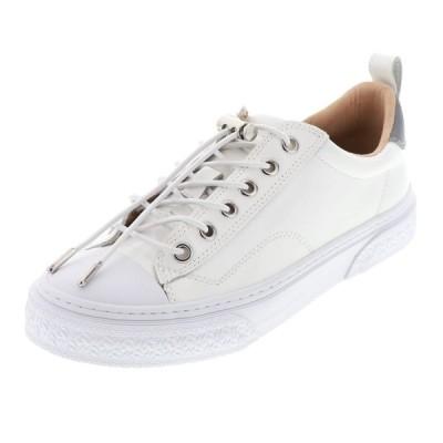 スラック フットウェア SLACK FOOTWEAR  本革 レディース スニーカー レザー 本革 CLUDE GL (SL1705-102) WHITE ホワイト×ホワイト 白 23.0cm〜25.0cm