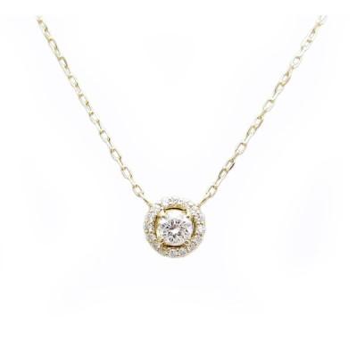 イエローゴールド ダイヤモンド ペンダント ネックレス