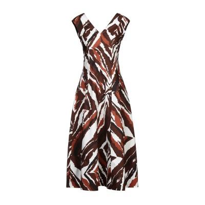エリカ カヴァリーニ ERIKA CAVALLINI 7分丈ワンピース・ドレス ココア 44 コットン 100% 7分丈ワンピース・ドレス