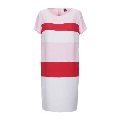 1-ONE ミニワンピース&ドレス ピンク 42 ポリエステル 93% / ポリウレタン 7% ミニワンピース&ドレス