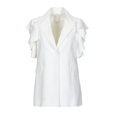 ピアヌラストゥーディ�� PIANURASTUDIO テーラードジャケット ホワイト 40 アセテート 61% / レーヨン 34% / ポリウレタ
