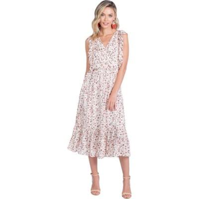 アメリカンローズ American Rose レディース ワンピース ラップドレス ノースリーブ ワンピース・ドレス Summer Sleeveless Faux Wrap Dress Ivory/Multi
