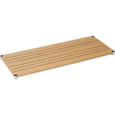 [WS1245-NA]棚板 ウッドシェルフ スチールシェルフ幅121.5cm奥行46cm(スリーブ別売)【ポール径25mm】ナチュラル