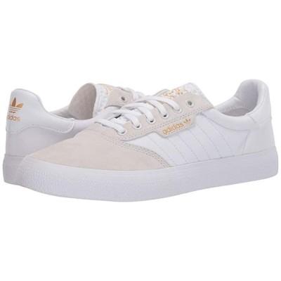 アディダススケートボーディング 3MC メンズ スニーカー 靴 シューズ Crystal White/Footwear White/Gold Metallic