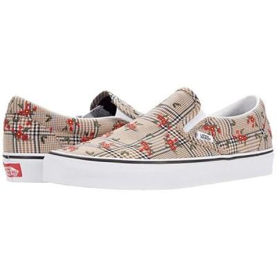 バンズ Classic Slip-On メンズ スニーカー 靴 シューズ (Glen Plaid Floral) Embroidery/True White