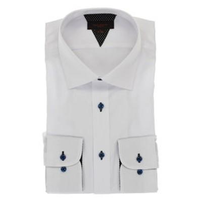 形態安定抗菌防臭スリムフィット ワイドカラー長袖シャツ