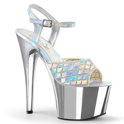 サンダル プリーザー pleaser Slv Hologram/Slv Chrome ホログラム メタリック レディース 靴 お取り寄せ商品