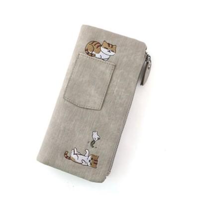 財布 レディース 美しい猫の図柄 サイフ さいふ 大容量 財布 可愛い 誕生日 ギフト プレゼント カード入れ