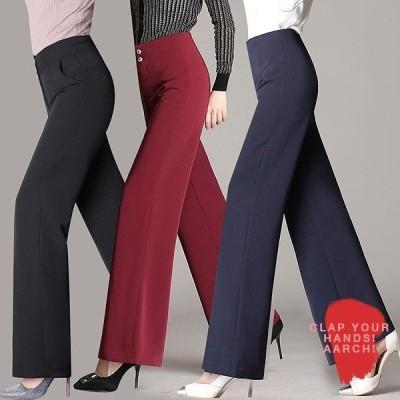 大きいサイズ パンツ レディース ファッション おおきいサイズ あり フレアパンツ 脚長 美脚 スタイルアップ シンプル S M L LL 3L 4L 5L 秋冬