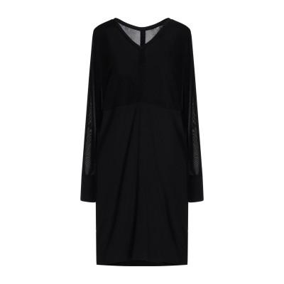 レ コパン LES COPAINS ミニワンピース&ドレス ブラック 40 レーヨン 100% / シルク / ポリウレタン / ポリエステル ミニ