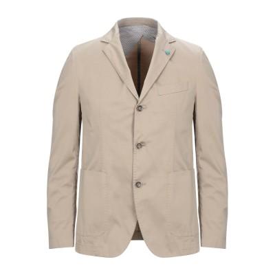 BRECO'S テーラードジャケット ベージュ 48 コットン 96% / ポリウレタン 4% テーラードジャケット