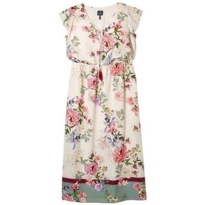 アドリアナパぺル レディース ドレス  Plus Size Floral Border Print Maxi Dress