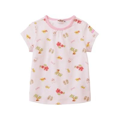 【ミキハウスホットビスケッツ】 Tシャツ キッズ ピンク 90cm MIKI HOUSE HOT BISCUITS