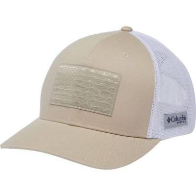 コロンビア Columbia メンズ ハット ブリムハット 帽子 PFG Mesh Flat Brim Hat Fossil/PFG Hooks Gold