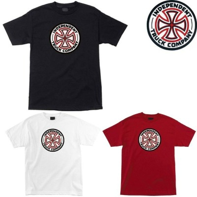 INDEPENDENT RED/WHITE CROSS TEE インディペンデント Tシャツ 半袖T プリントT