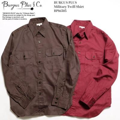 BURGUS PLUS(バーガスプラス) ミリタリーツイルシャツ BP16505